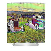Antique Vehicles Shower Curtain