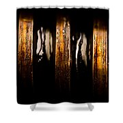 Antique Vise Worm Gear Shower Curtain by  Onyonet  Photo Studios