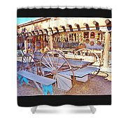 Old Santa Fe Antique Wagon And Culture Shower Curtain