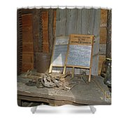Antique Wash Boards Shower Curtain