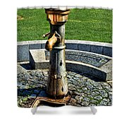 Antique Water Fountain Shower Curtain