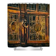 Antique Windows Shower Curtain