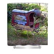 Antique Wine Wagon Shower Curtain