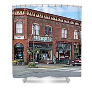 Antiques In Red Brick Shower Curtain