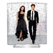 Antonia And Giovanni Shower Curtain by Nancy Levan