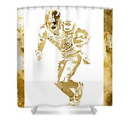 Antonio Brown Pittsburgh Steelers Water Color Art 4 Shower Curtain