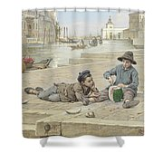 Antonio Ermolao Paoletti The Melon Sellers Shower Curtain