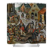 Antwerp The Seven Acts Of Mercy Shower Curtain