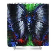 Anxious Butterfly Shower Curtain