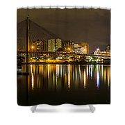 Anzac Bridge By Night Shower Curtain