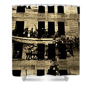 Anzac Pictures Projected In Martin Place 20 Shower Curtain