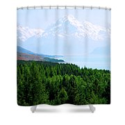 Aoraki Mount Cook Shower Curtain
