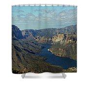 Apache Lake Panorama Shower Curtain