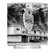 Apache Motel Tucumcari Shower Curtain