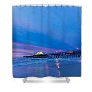 Apache Pier At Sunrise Shower Curtain