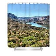 Apache Trail - Salt River - Arizona Shower Curtain