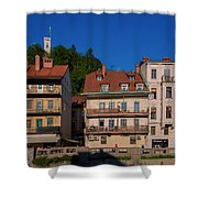 Apartments By The Ljubljanica River In Ljubljana Shower Curtain