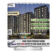 Apartments For Sale In Gachibowli, Manikonda, Hyderabad Shower Curtain