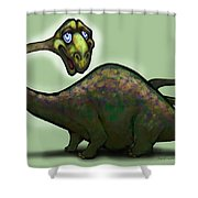 Apatosaurus Brontosaurus Shower Curtain