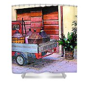 Ape Truck In Tuscany Shower Curtain