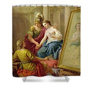 Apelles In Love With The Mistress Of Alexander Shower Curtain