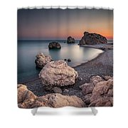 Aphrodities Rock  Shower Curtain