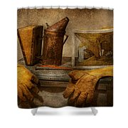Apiary - The Beekeeper  Shower Curtain