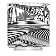 Apocalyptic Ringside View Shower Curtain