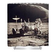 Apollo 15, 1971 Shower Curtain