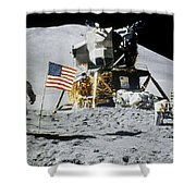 Apollo 15: Jim Irwin, 1971 Shower Curtain by Granger