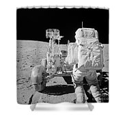 Apollo 16 Astronaut Reaches For Tools Shower Curtain