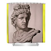 Apollo Bust Drawing Shower Curtain