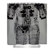 Apollo Space Suit X-ray Shower Curtain