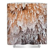 Apostle Islands Icicle Cave Shower Curtain