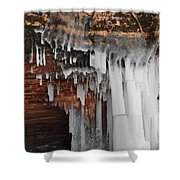 Apostle Islands Icicles Shower Curtain