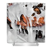 Apostle Islands Icicles Macro Shower Curtain
