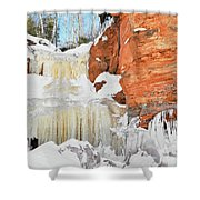 Apostle Islands National Lakeshore Waterfall Portrait Shower Curtain