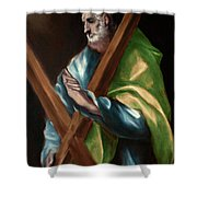 Apostle Saint Andrew Shower Curtain