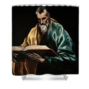 Apostle Saint Simon Shower Curtain