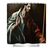 Apostle Saint Thomas Shower Curtain