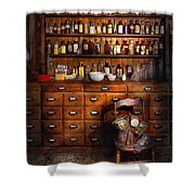 Apothecary - Just The Usual Selection Shower Curtain