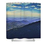 Appalachia Blue Shower Curtain