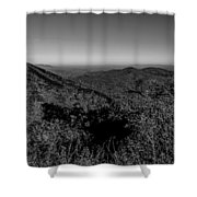 Appalachian Mountains From Mount Mitchell, The Highest Point In  Shower Curtain