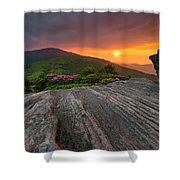 Appalachian Trail Roan Highlands Jane Bald Sunset Landscape Shower Curtain