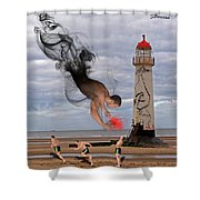 Apparition And Sighting Shower Curtain