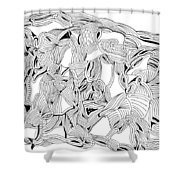 Apparitions Shower Curtain