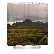 Appealing Scenic Landscacpe In Cuillen Hills Scotland  Shower Curtain
