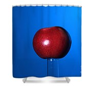 Apple Before Bullet Impact Shower Curtain