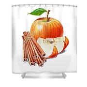 Apple Cinnamon Shower Curtain