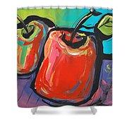 Apple Dance Shower Curtain